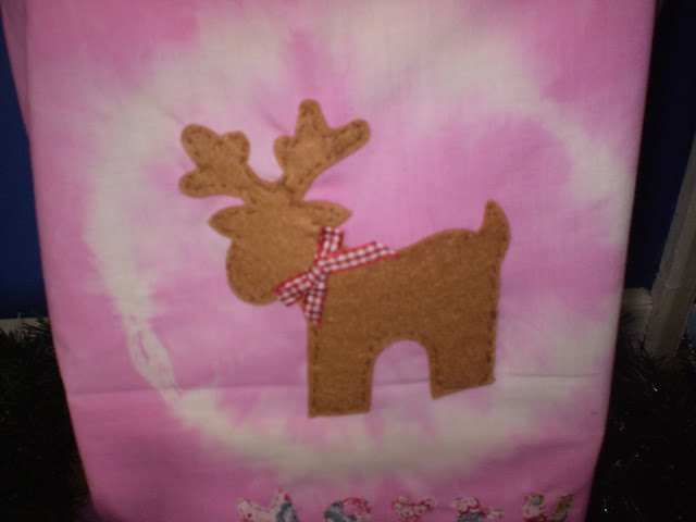 Sewn Reindeer and Ribbon