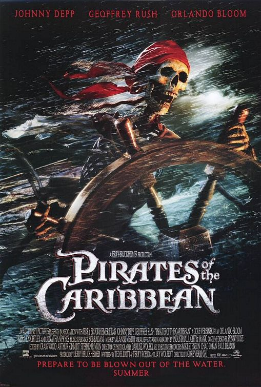 Pirates Caribbean movie poster