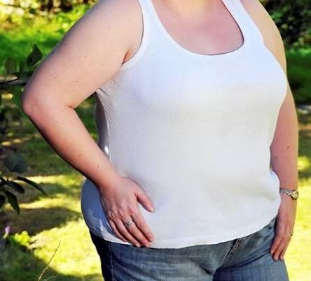 tubuh wanita obesitas atau kegemukan