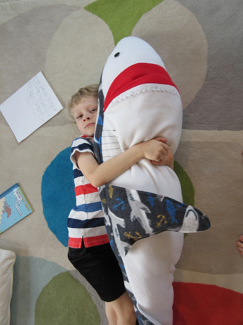 stuffed shark fleece
