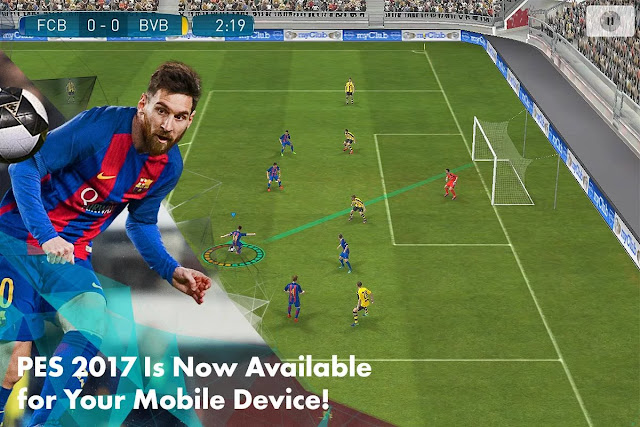 PES 2017 MOD v1.0.0 Apk+Data for Android Pro Evolution Soccer 17 Terbaru