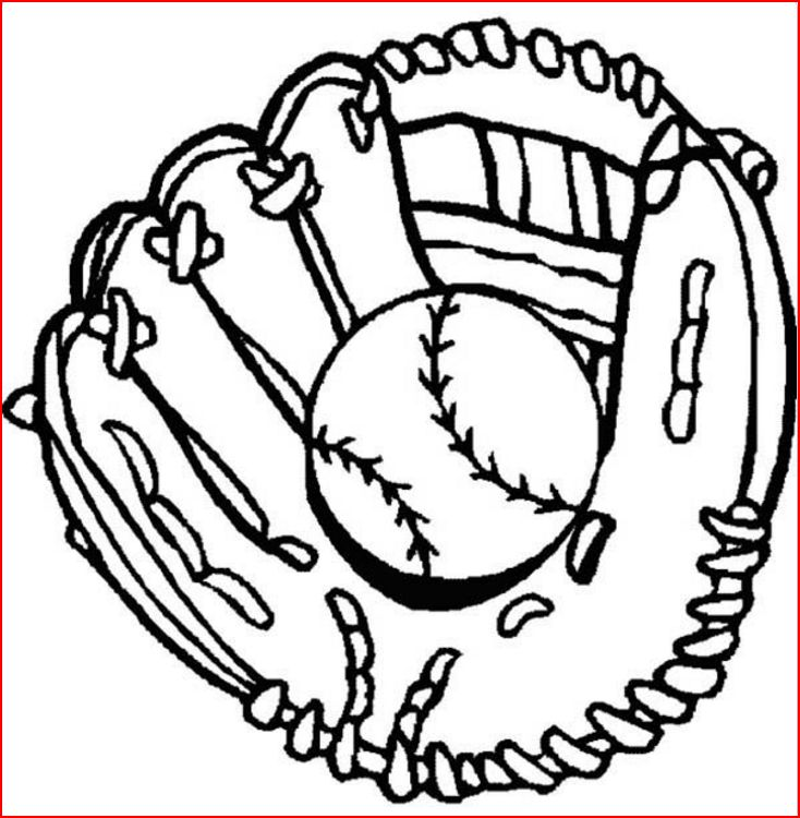 free coloring pages of baseball - photo#27