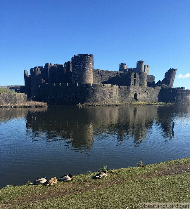 would-we-dare-to-meet-the-dragon-at-Caerphilly-Castle-with-leaning-tower-and-moat