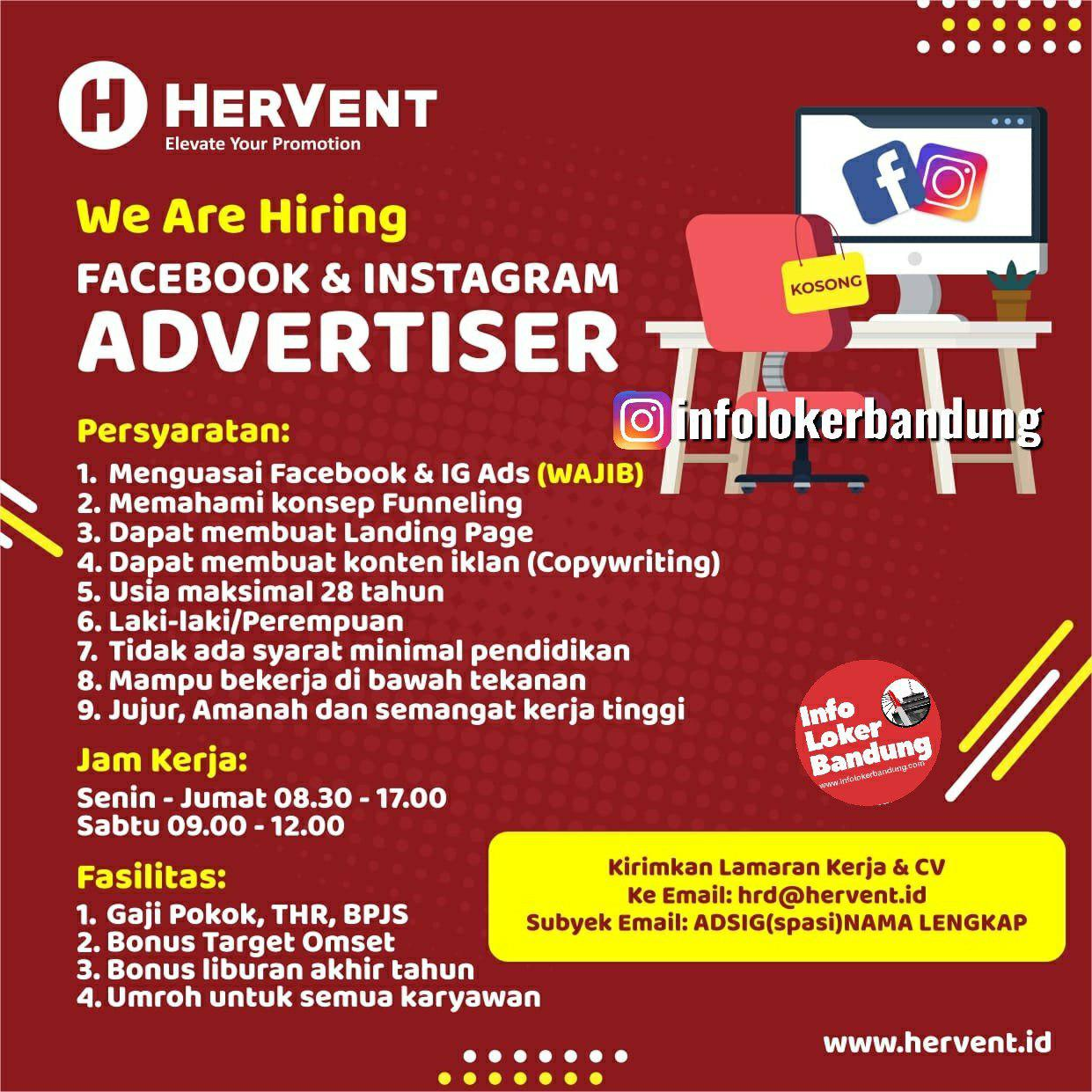 Lowongan Kerja HerVent Bandung Desember 2019