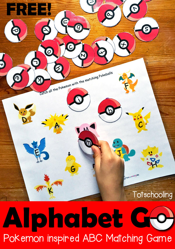graphic regarding Alphabet Matching Game Printable named Alphabet Move! A Pokemon Encouraged Letter Matching Activity