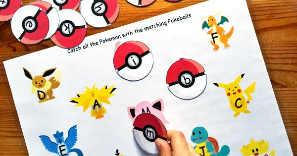 Alphabet GO! A Pokemon Inspired Letter Matching Game ...