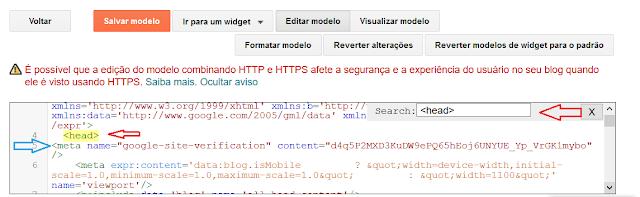 Colocando o código de verificação no html