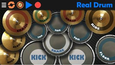 aplikasi belajar musik real drum