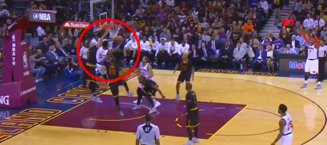 LeBron James' MONSTER Block On Courtney Lee! (VIDEO)