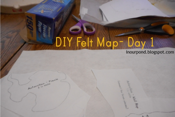 Felt Montessori Map from In Our Pond