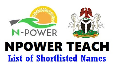 Npower Teach List of Shortlisted Candidates 2017/2018 - All 36 States Plus FCT