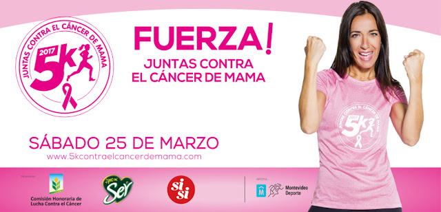 5k Contra el cáncer de mama (Canteras del parque Rodó, Montevideo, 25/mar/2017)