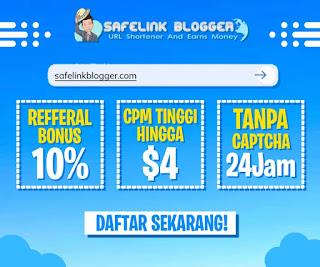 Fitur Safelink Blogger