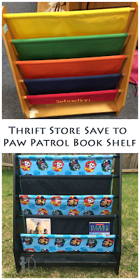Paw Patrol Inspired Bookshelf Makeover