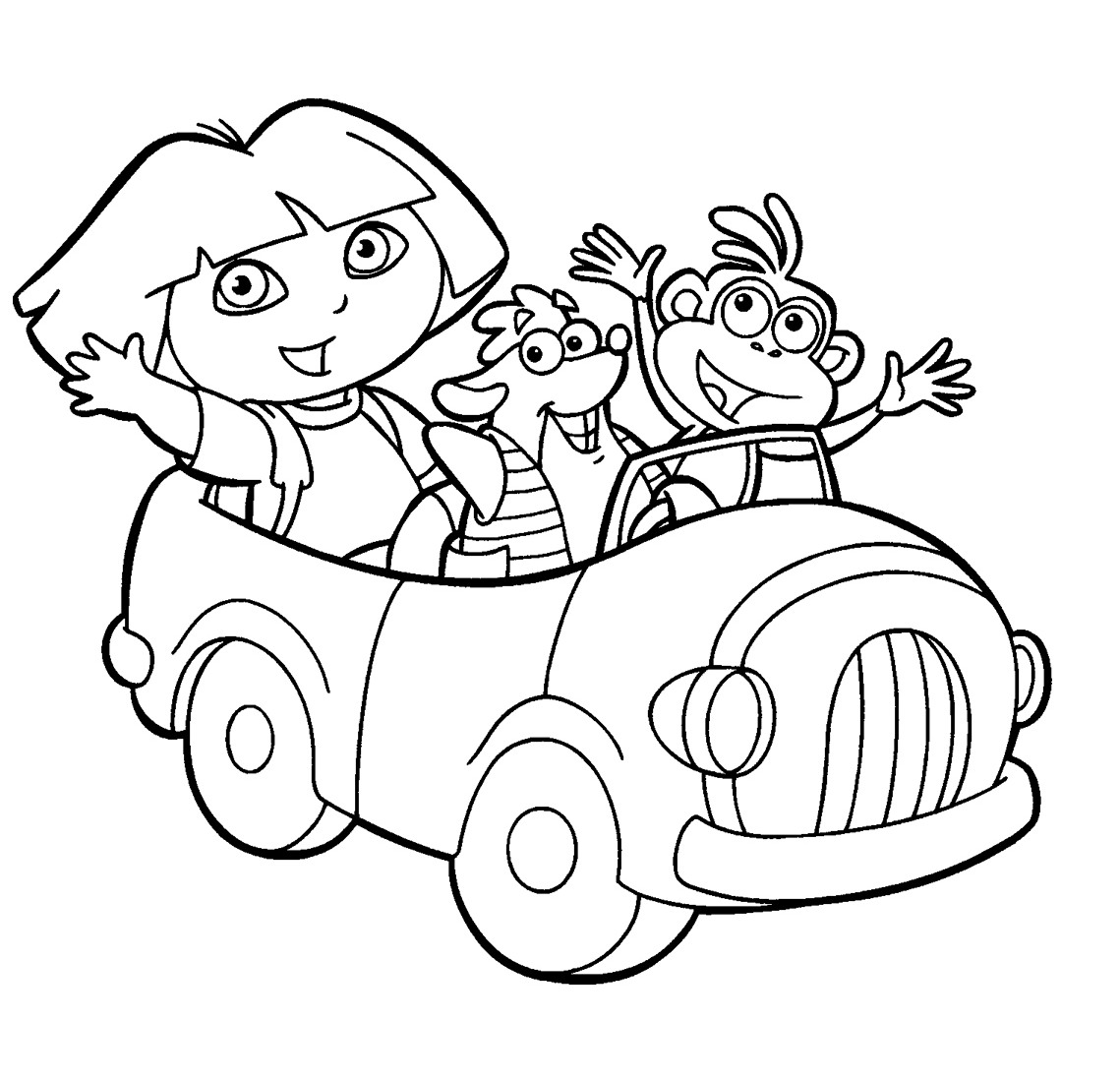 Dora the explorer coloring pages minister coloring for Dora black and white coloring pages