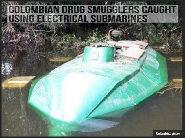 """SEÑORES de la DROGA COLOMBIANOS """"YA USAN SUBMARINOS ELECTRICOS"""" de 1.5 MILLONES de DOLARES"""
