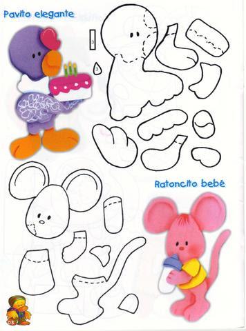 Patrones Dibujos De Navidad En Foami.Como Hacer Figuras En Foamy Moldes Revistas De