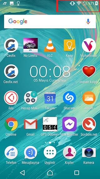 Telefonun Durum çubuğunda saat görünmesin!-www.ceofix.com