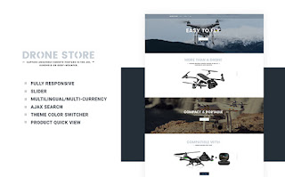 drone store ecommerce theme