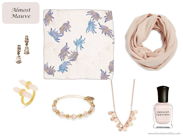 Almost Mauve accessories from Pantone Spring 2018 colors