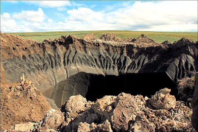 First Pictures From Inside of Mysterious Giant Hole in Siberia - July 2014
