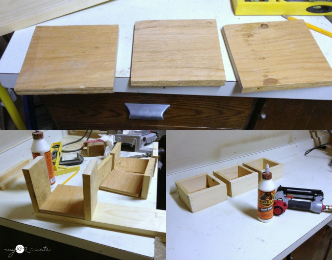 building drawers for storage shelf