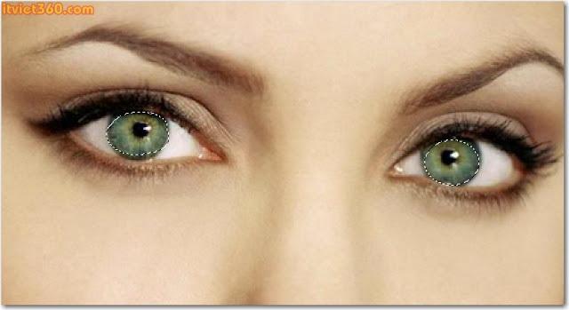 Thủ thuật Photoshop: Chỉnh sửa màu mắt sáng đẹp hơn