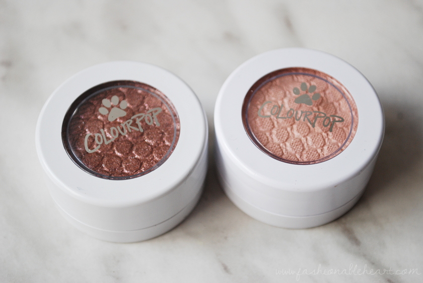 bbloggers, bbloggersca, canadian beauty bloggers, colourpop cosmetics, cat nap, puppy love, super shock shadows, eyeshadow, swatch, review, nkla, charity, savethemall