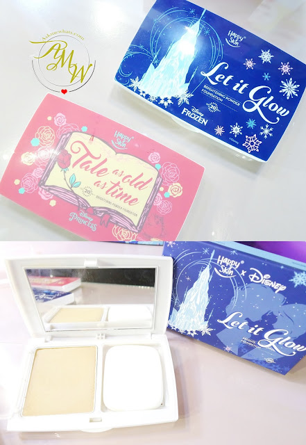 a photo of Happy Skin X Disney Let It Glow Brightening Powder Foundation and Tale As Old As Time Brightening Powder Foundation