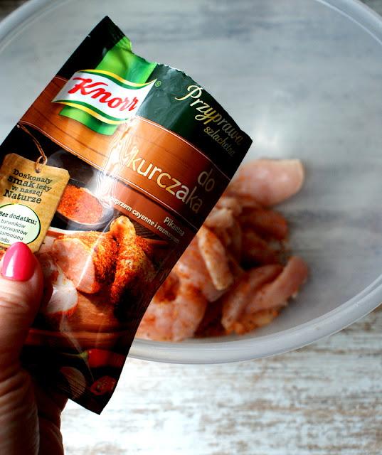 przyprawy Knorr,Knorr,kurczak w curry,sos curry do kurczaka,szybki kurczak z piekanika