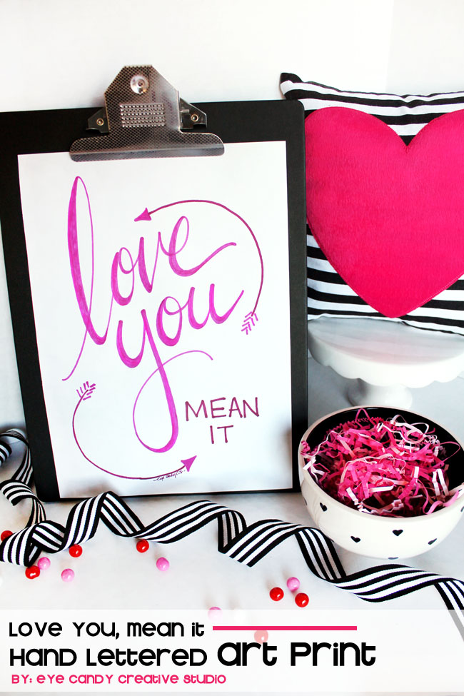 black and white, love you art, valentines art, pink heart, arrow art