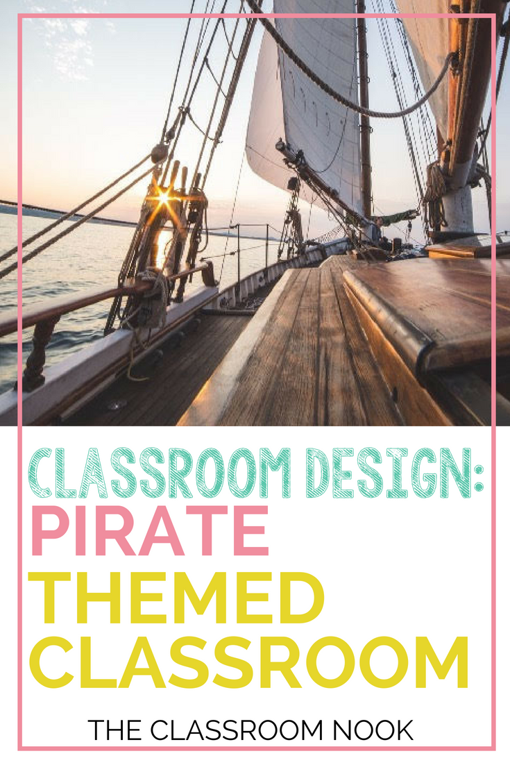 Create a pirate themed classroom with these tips and ideas for bulletin board displays, classroom accessories, printable resources and more! #classroomdecor #classroomdesign #classroomtheme #backtoschool #teacher #classroom