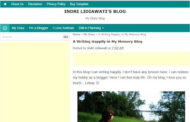 Blog Dalam Bahasa Inggris