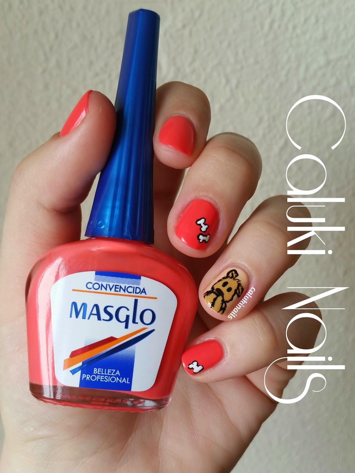 Caluki Nails Nail Art Perrete Convencida Masglo