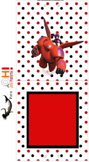 Big Hero 6: Etiquetas Candy Bar para Imprimir Gratis.