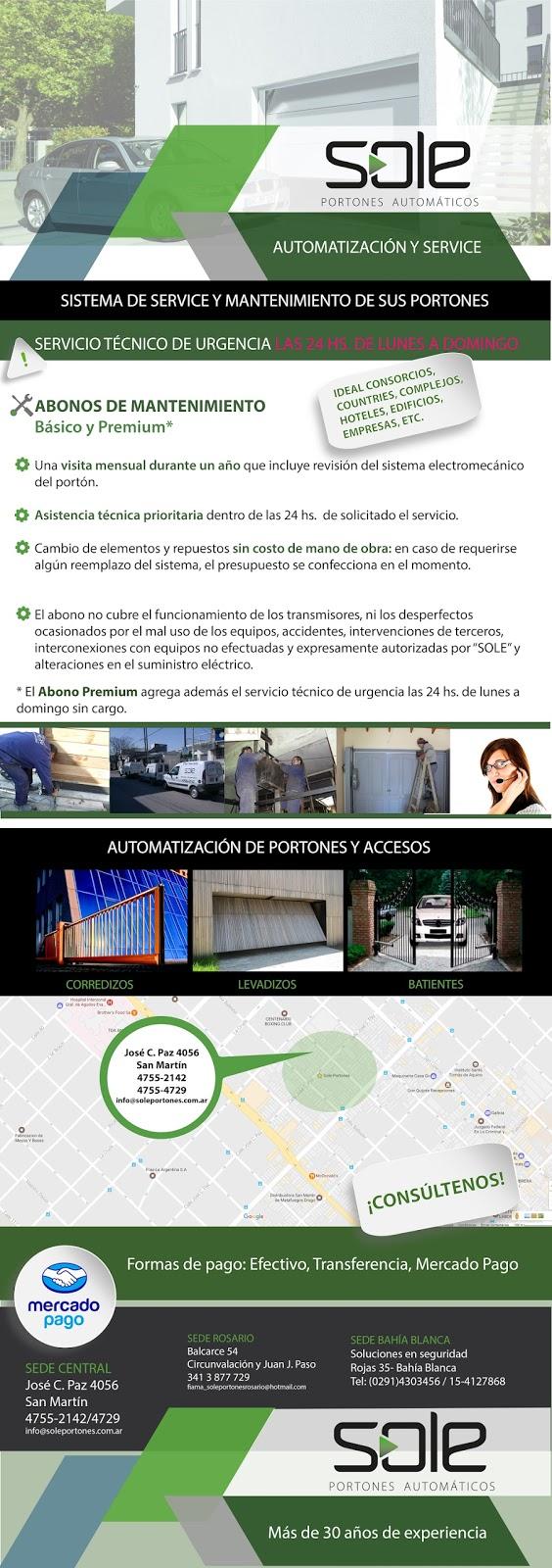 Servicio Técnico - Portones - Automatización - Mantenimiento