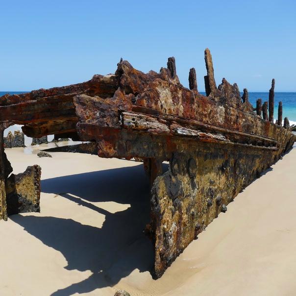 Bulwer Wrecks Schiffs-Wracks Moreton Island Strand
