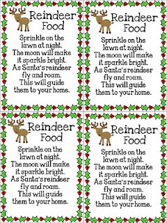 Reindeer food poem free printable - Christmas advent countdown.  Fun Christmas craft and activity ideas for every day of advent. Perfect ideas for toddlers, preschoolers and older kids.
