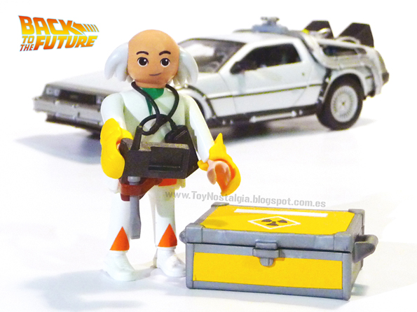 Playmobil Retour vers le futur Doctor Brown DeLorean Time machine
