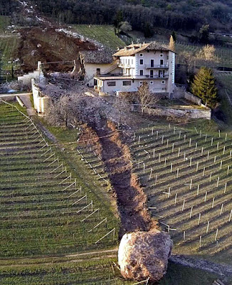 italian vineyard destroyed in landslide