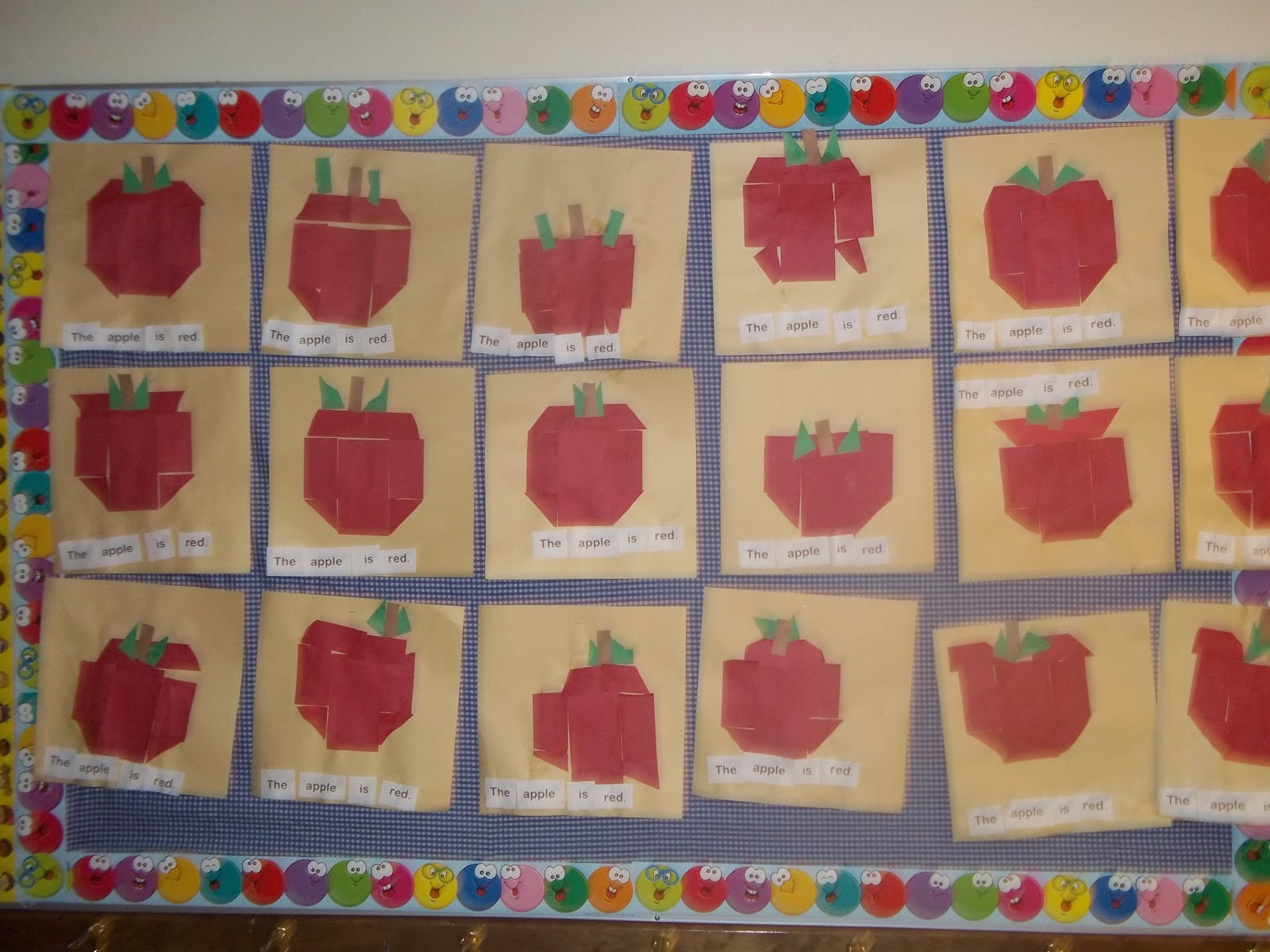 Mrs Wood S Kindergarten Class Apple Sentences