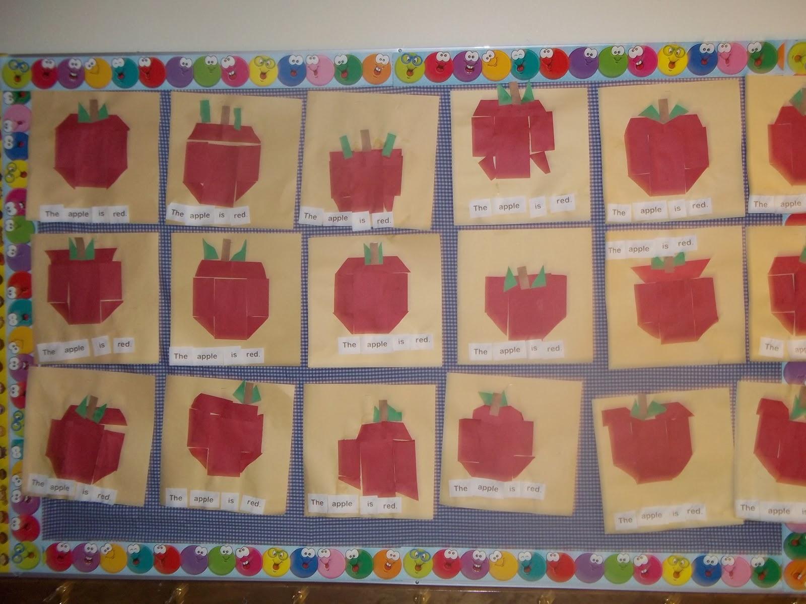 Mrs Wood S Kindergarten Class Apple Sentences