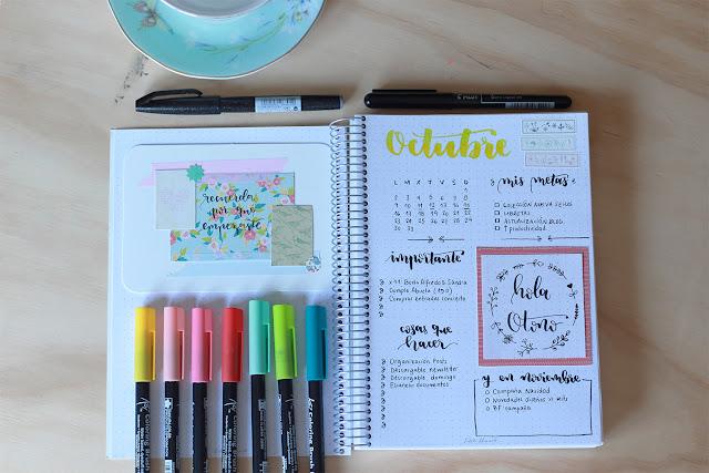 Bullet journal: mi planificación para el mes de octubre