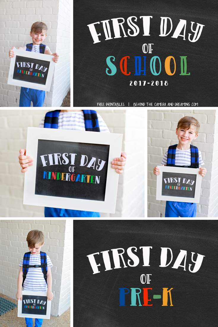 FIRST_DAY_ OF_SCHOOL_ PRINT Free for Download on Behind the Camera and Dreaming.com