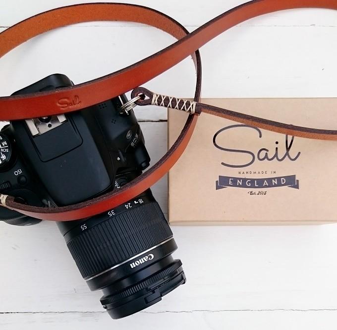 Sail handmade camera strap