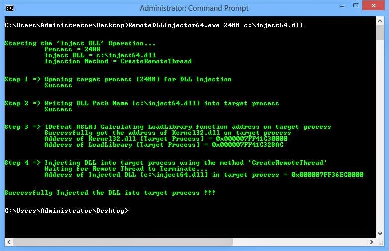 Remote DLL Injector v2 0 - Command-line Tool to Inject DLL