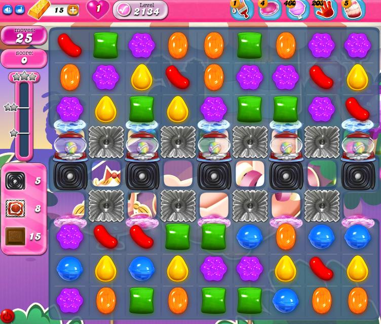 Candy Crush Saga level 2134