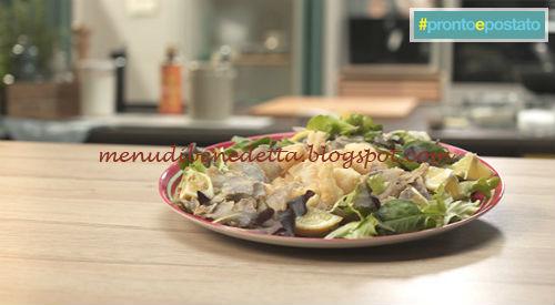 Pronto e postato - Bocconcini di platessa con chips di patate viola ricetta Benedetta Parodi