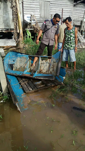Laka Air di Entibab, Body Speed Patah Dua, Korban Belum Ditemukan
