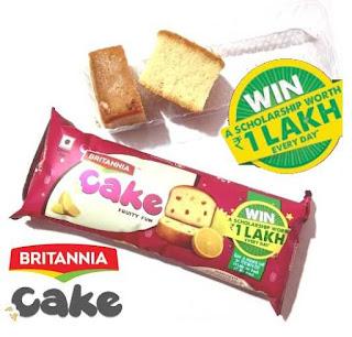 Britannia Cake Scholarship Win 1 Lakh Everyday contest